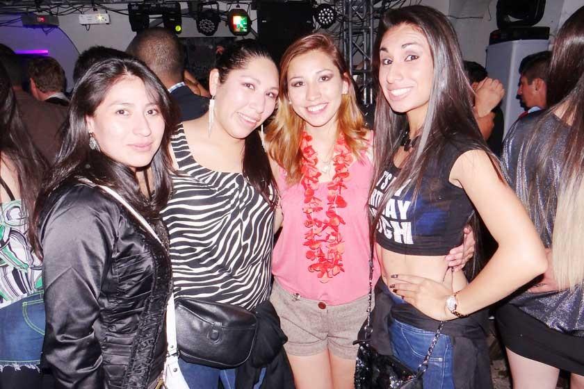 Nathalia Meza, Carla Huanca, Lizeth Caballero y Yamile Mita.