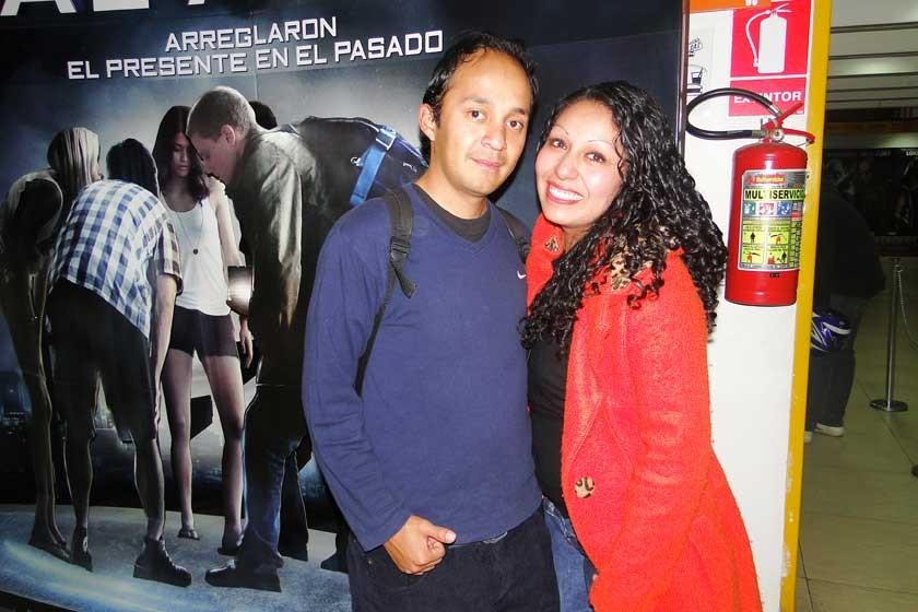 Oliver Montaño y Yoselin Romero.