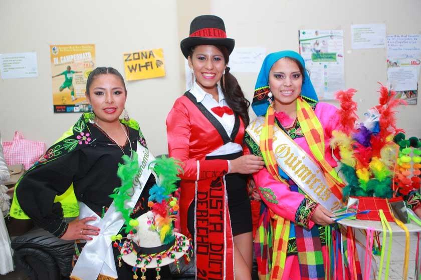 Dora Amachuy, Omayra Calani y Cintia Palacios.