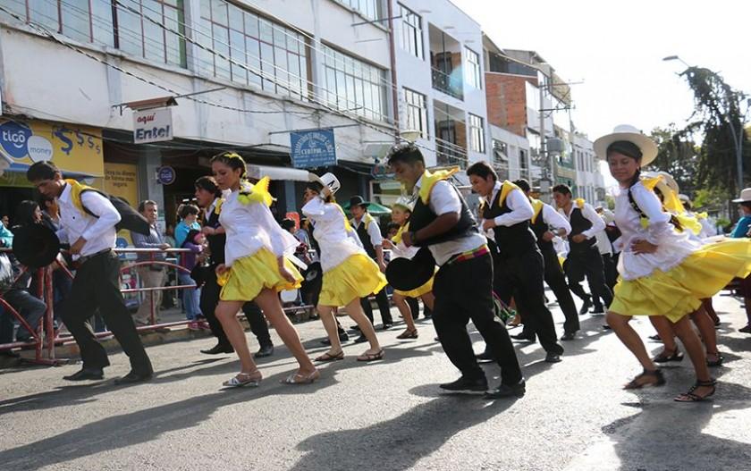 La alegría de los bailarines. FOTO: CORREO DEL SUR