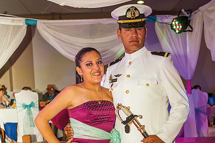 Tania y Juan Antonio Sahonero Zárate.