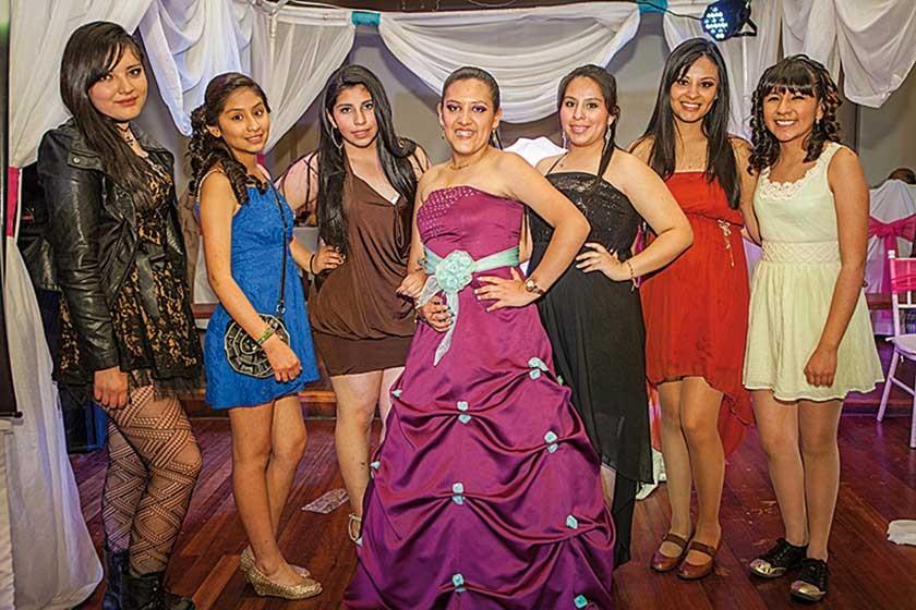 Fernanda Arancibia, Natalia Zárate, Silvana Torres, Tania Sahonero, Nancy Torres, Diana Zárate y Ana Rodríguez.