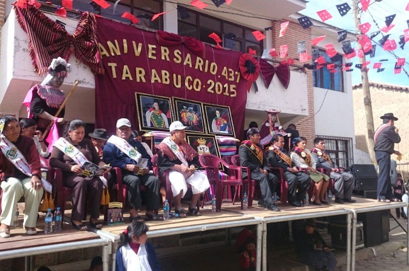 Autoridades de Chuquisaca y Tarabuco participan del acto especial de aniversario. Foto: Gentileza ALDCH