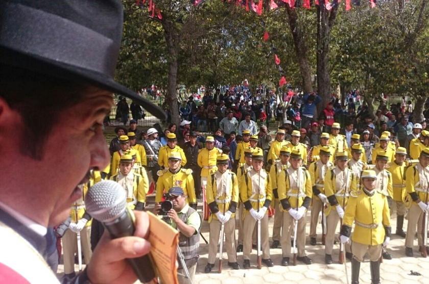 Autoridades de Chuquisaca y Tarabuco participan del acto especial de aniversario. Foto: Gentileza