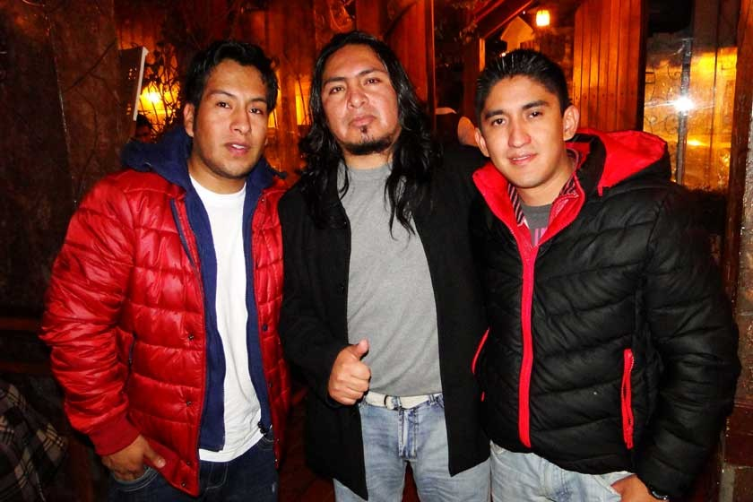 Cristian Sumerente, Ronald Villegas y Marco Pattzi.