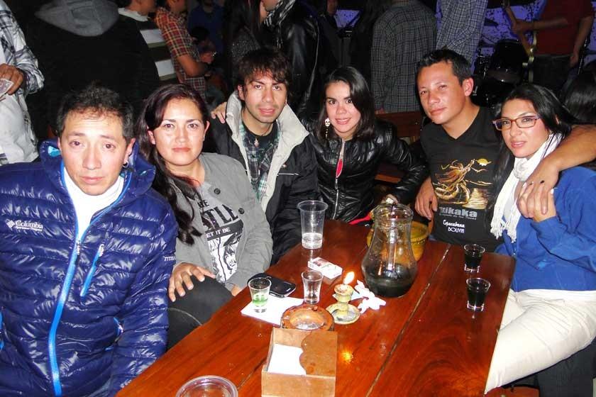 Huascar Murillo, Fabiola Martínez, Germán Vacaflor, Lauren Céspedes, Ismael Echart y Ana Paniagua.