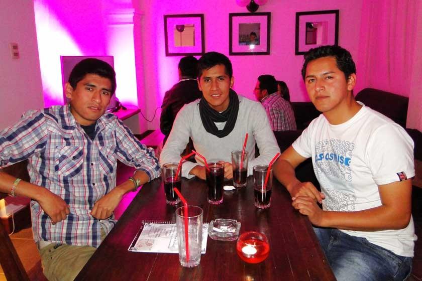 Mauricio Soto, Freddy Sánchez y Miguel Pinaya.