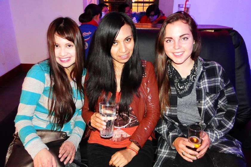 Rosa Miranda, Tania Libertad y Kati Zirn.