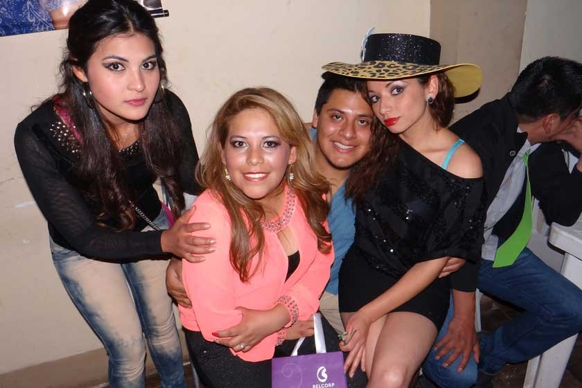 Eliana Miranda, Karen Nava, Raúl Aguilar y Amy Montalván.