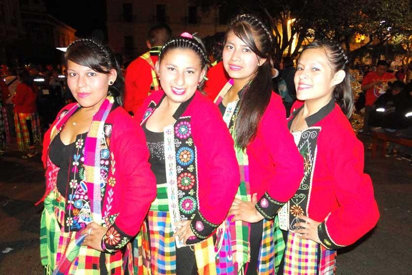 Alejandra Canaci, Guadalipe Serrudo, Susan Estrada y Mery Bejarano.