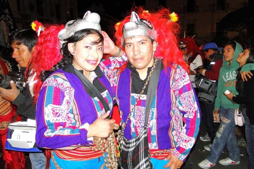 Yesica Arancibia y Ronald Condo.