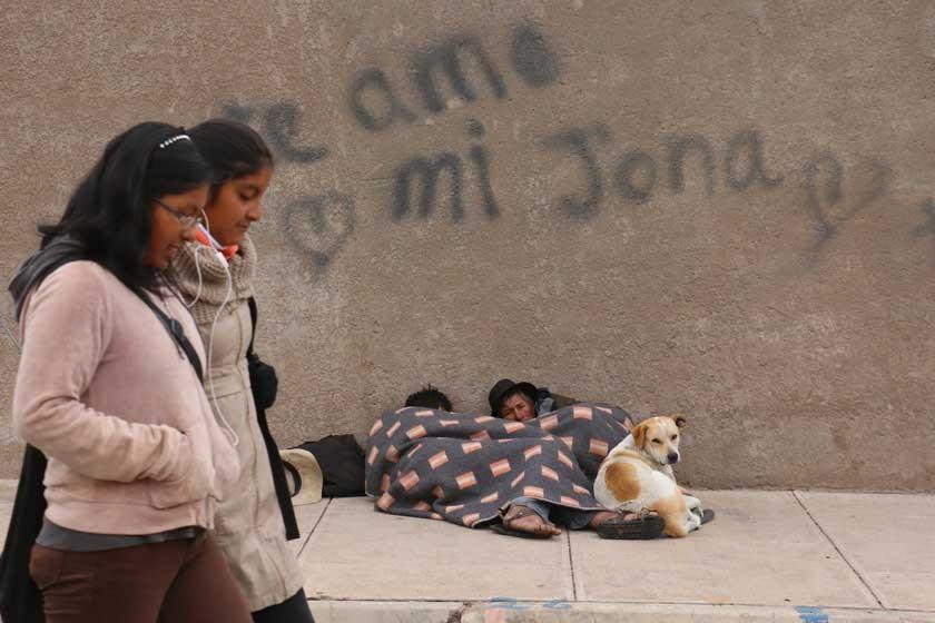 El intenso frío se cobra la vida de dos indigentes en Sucre