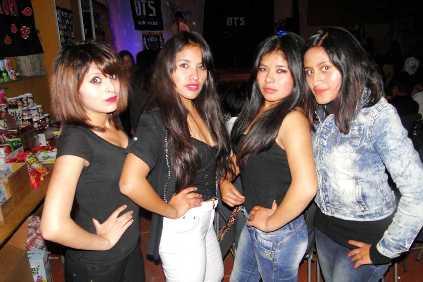 Luck's: D'janira García, Jessica Lizeth Valda, Ivette Choque y Naireth Ibarra.