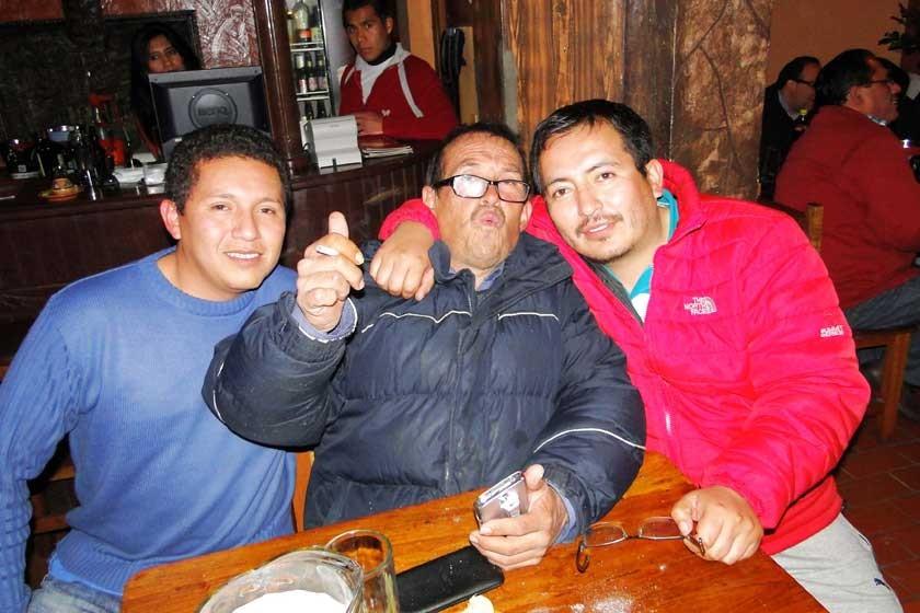 Ronald Valdez, Coco Oropeza y Javier Martínez.