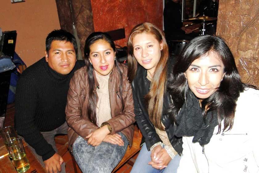 Ivis Chungara, Rosario Valda, Noelia Camacho y Silvia Suarez.