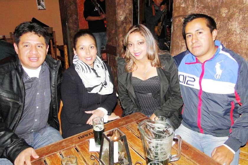 Abdón Oros, Katerine Ballester, Vania Montalvo y Yamil Pardo.