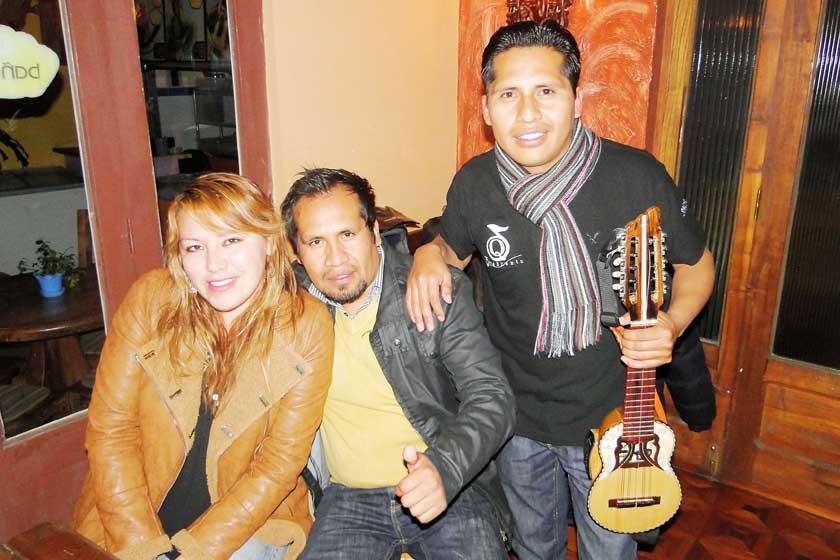 Dayana Cossío, Mauro López y Jhonny López.
