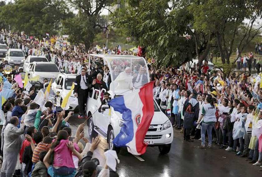 Presencia del Papa ya cautiva en Paraguay