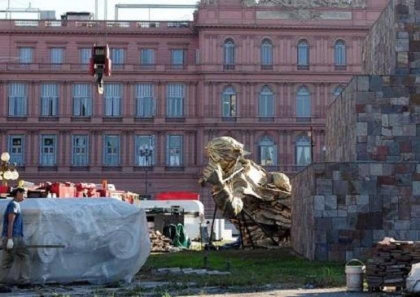 El monumento de Juana Azurduy está listo para ser inaugurado en Argentina. Foto: Archivo