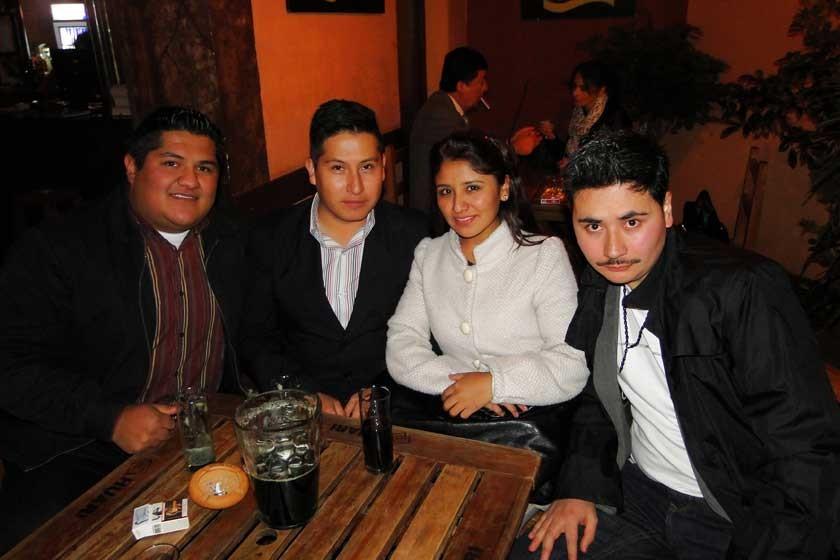 Julián Arriola, Luis Torrez, Lorena Romero y Jorge Villa.