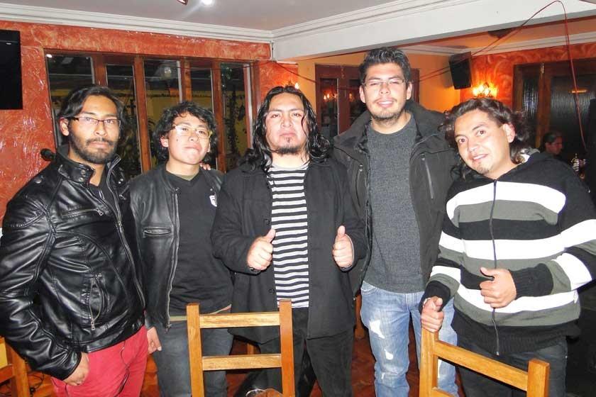 Nilton Angelo, Pablo Rodríguez, Ronald Villegas, Diego García y Wilson Mercado.