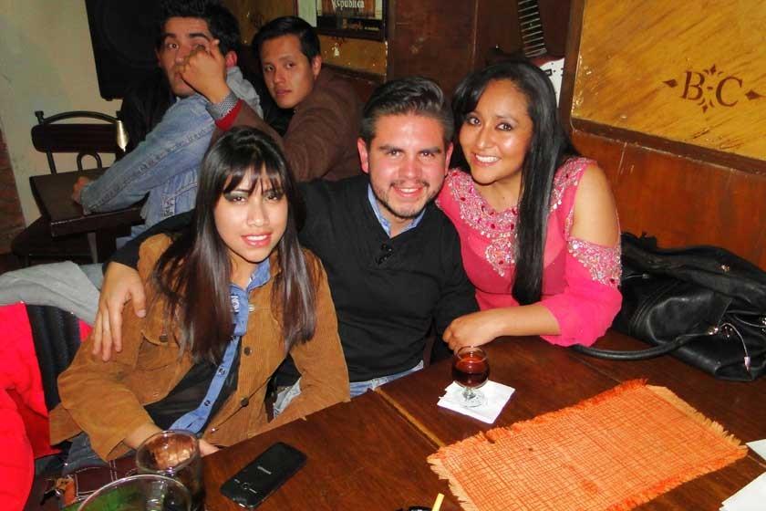 Beth Rodas, Ricardo Espinoza y Maciel López.