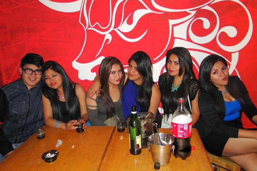 Noelia Martínez, Nicole Avendaño, Ilsen Guzmán y Claudia Saambrana