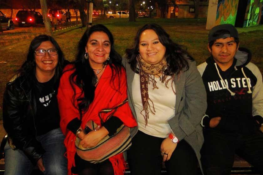 Alicia Arancibia, Tone Loayza, Carla y Ángel Arancibia.