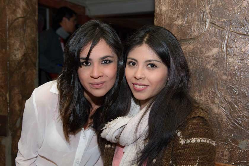 Nicol López y Alejandra Sequeiros.