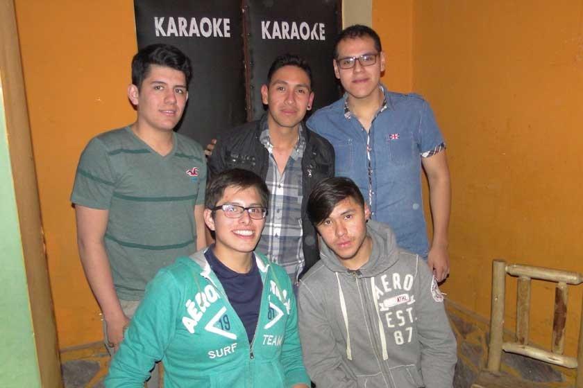 Fabio Hurtado, Mauricio Oropeza, Alexis Pinto, Mauricio Álvarez y Joel Gutiérrez.