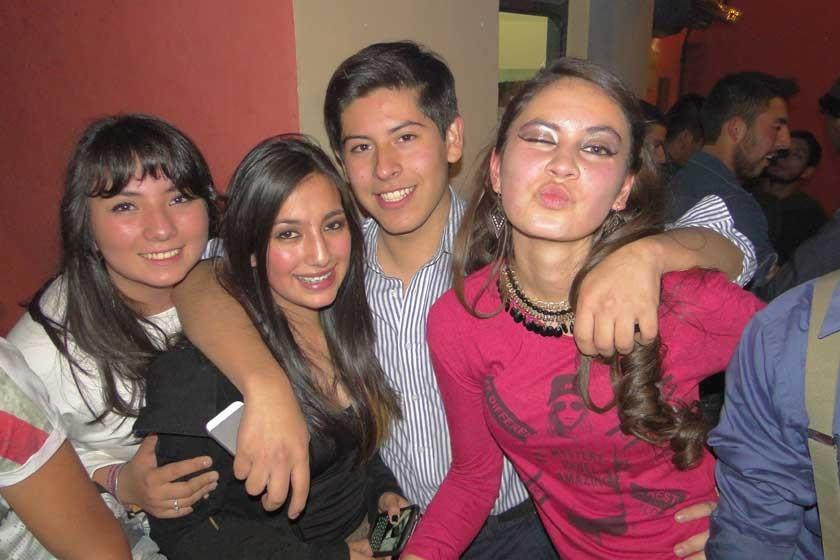 Camila Sandi, Melanie Barrientos, Fabricio Argandoña y Daniela Auza.