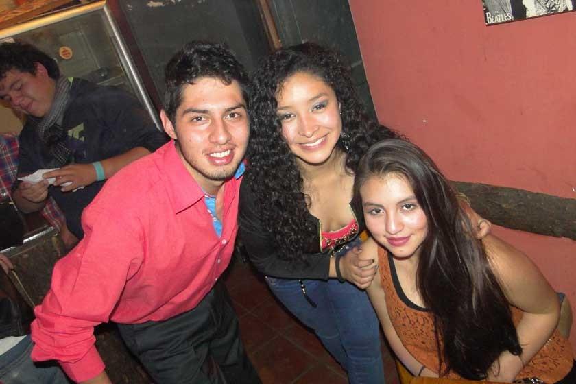 Olsen Borja, Ceci Arraya y Stefany Delgado.
