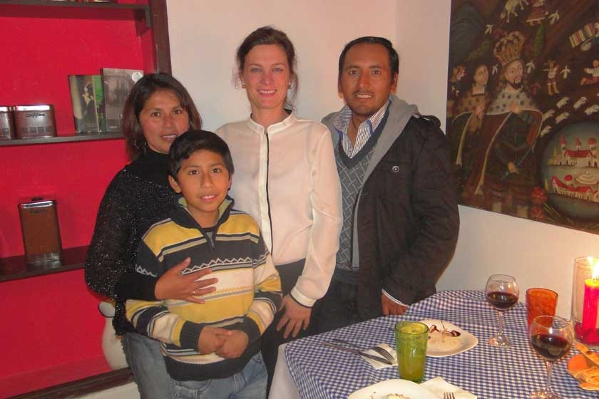 Miguel Cáceres, Janette Medrano, Alessandra Ciani y Walter Cáceres