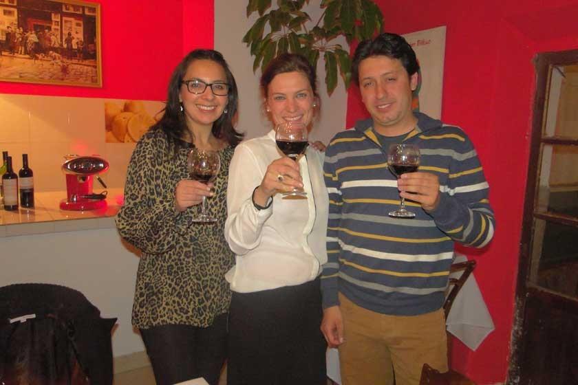 Alejandra Lucía, Alessandra Ciani y Pablo Buitrago.