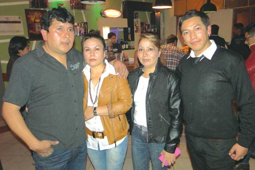 Oliver Castro, Nilda Palma, Ximena Varela y Antonio Terceros