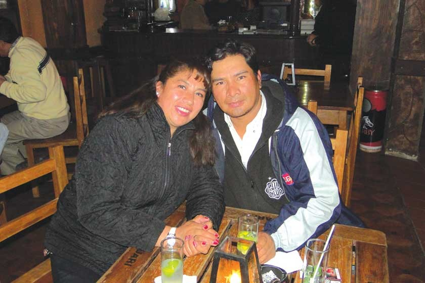 Janeth Muñoz y William Retamozo.