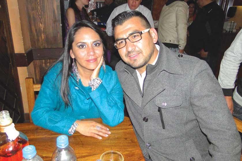 Paola Barrero y Marcelo Conchari.