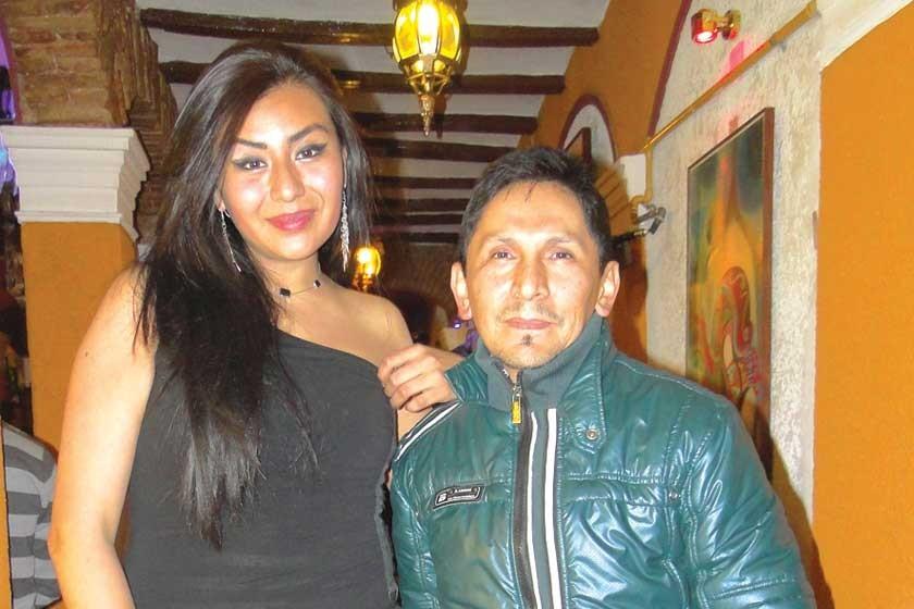 Stephanie Medina  y Jaime Villavicencio.