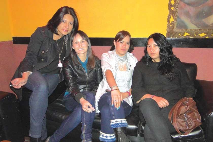 Judith Moya, Lili Borja, Elena Larrazabal  y Dayana Salinas.