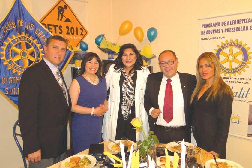 Fariseo Laguna, Patricia de Laguna, Maritza Blanco, José Luis Durán y Yovanka Jou.