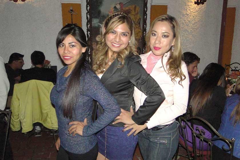 Zulma Caballero, Juma Sotez y Jenny Ramírez.