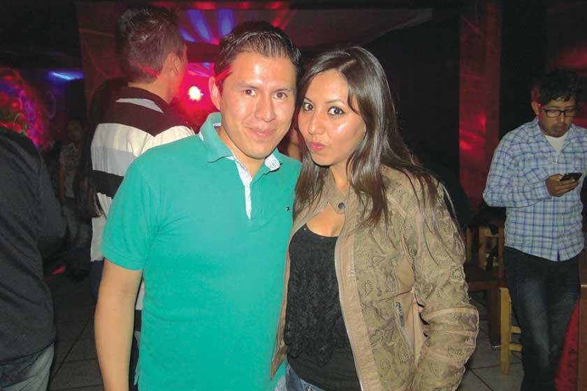 José Tapia y Cinthia Ríos.