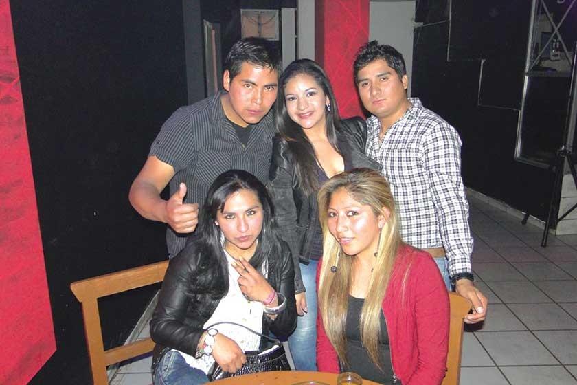 Arriba: Juan Bejarano, América Roncales y Wilber Rentería.  Abajo: Estefany Rocha y Joselyn Cruz.