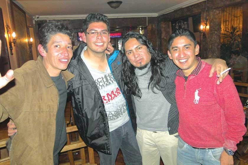 Marco Patzi, Diego García, Ronald Villegas y Angel Campos.
