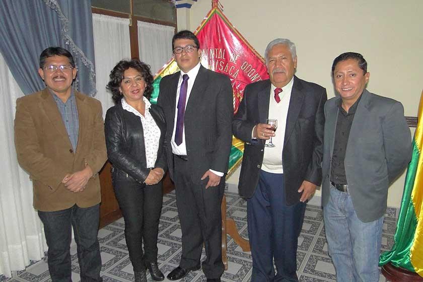 Pascual Llampa, Virginia Muñoz, Milton Marquiegui, Raúl Tango y José Luis Ruelas.