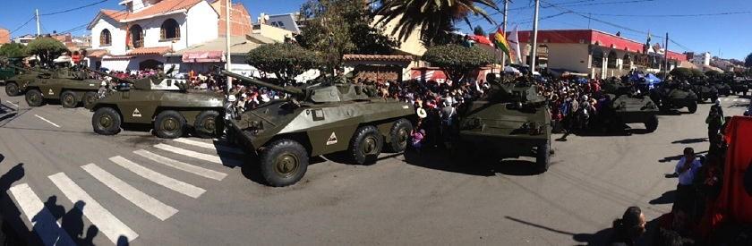 Tanques de guerra de las FFAA. Foto: CORREO DEL SUR