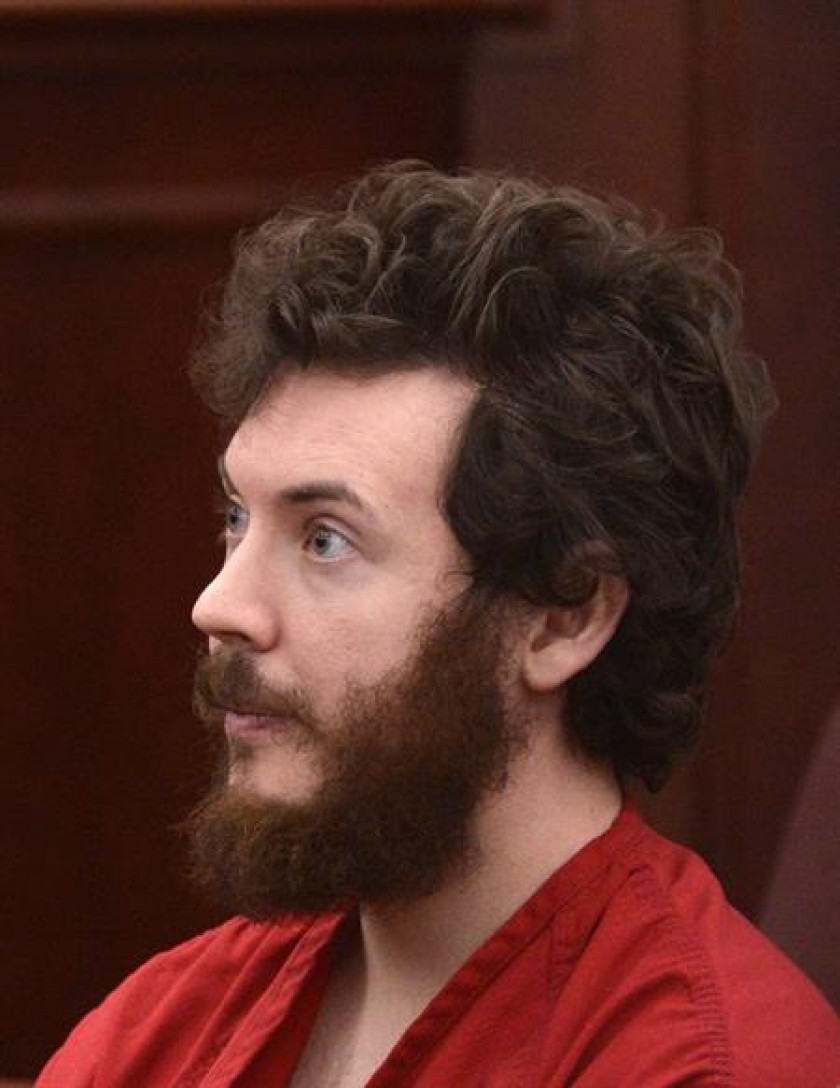 El condenado a cadena perpetua, James Holmes. FOTO: EFE