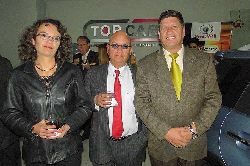 Daniela Palacios, Vicente Hernáiz y Dieter Hochstatter.