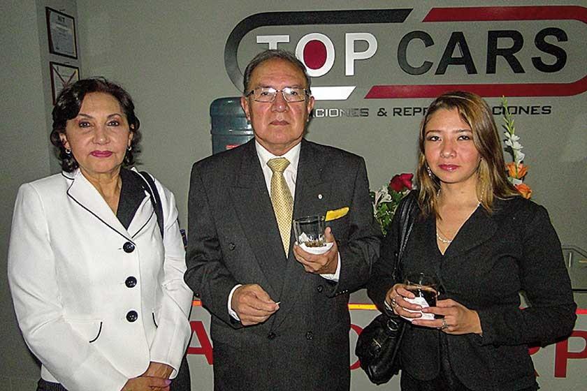 María Eugenia de Eid, Gunnar Melgarejo y María Eugenia Coca.