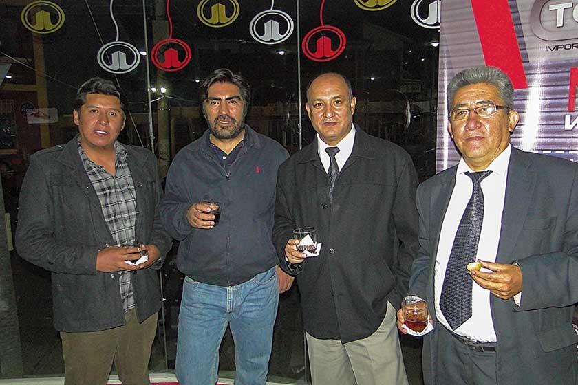 Marco Jesús, Marco Prieto, Edwin Hurtado y Javier Serrano.